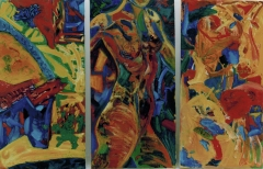 "oil on canvas triptych 82.5"" x 55"" sold"