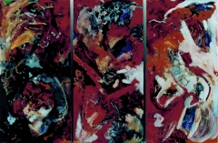 """oil on canvas triptych 82.5"""" x 55"""" sold"""
