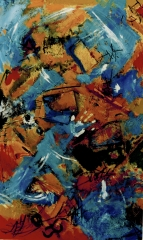 "oil on canvas 35"" x 59 """