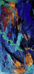"""oil on canvas 1 of 2 diptych 27.5"""" x 55"""" sold"""