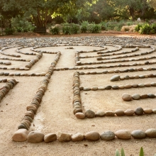 Labyrinth at the Sycamore Mineral Springs Resort, San Luis Obispo, California (Chapter 26, Girls Don't Ride Motorbikes)