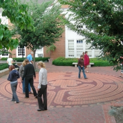 Labyrinth Walk at the Westminster Presbyterian Church in Pittsburgh, Pennsylvania, August 14. 2006