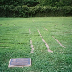 Grass Labyrinth at Presbyterian Seminary in Louisville, Kentucky
