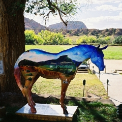 Painted horse at Ghost Ranch, Abiqui, New Mexico