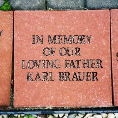 Memorial stone for my dad at Labyrinth in Weirton, West Virginia