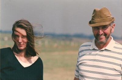Together with my dad, 1991