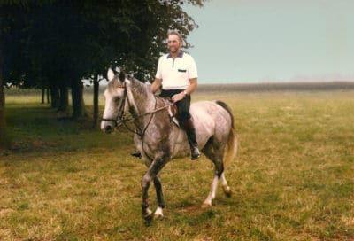Karl Brauer on horseback in Rees Germany