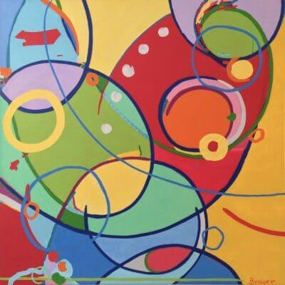Secret Destination, oil on canvas 40 x 40 inches, Artist Dorit Brauer